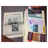 Newspaper and pamphlets