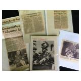 Vintage magazine/newspaper clippings
