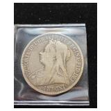1895 Great Britain Silver Crown Coin
