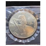 1989 First Man On The Moon $5 Coin