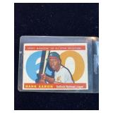 1960 Topps Hank Aaron All Star Sport Magazine Card