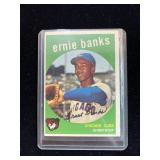 1959 Ernie Banks Chicago Cubs Baseball Card