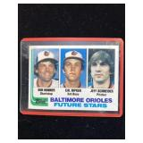 1982 Topps Baltimore Orioles Future Stars Card