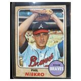 Phil Niekro 1968 Topps Atlanta Braves Card