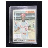 1970 Lou Brock Cardinals Baseball Card