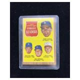 1961 Strikeout Leaders Baseball Card