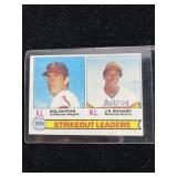 1978 Strikeout Leaders Baseball Card