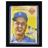 1954 Tom Lasorda Baseball Card