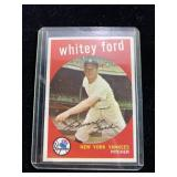 1959 TOPPS WHITEY FORD BASEBALL CARD