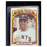 1972 Topps Willie Mays San Francisco Giants Card