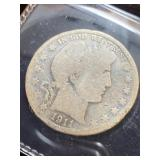 1911 Barber half dollar coin