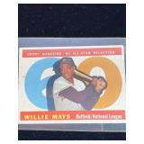 1960 Topps Willie Mays All Star Baseball Card