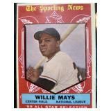 1959 Willie Mays The Sporting News Baseball Card