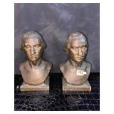 Antique George Washington bookends cast iron W/