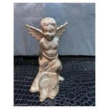French Antique Bronze Angel cupid