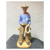 Vintage lefton China hand painted Cowboy figurine