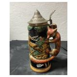 German Beer Stein Fox handle 1 liter Plus Music