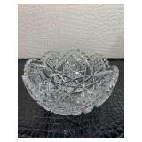 Stunning detailed crystal bowl