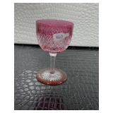 Pink crystal glass cup