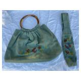 Stylish Vintage green purse
