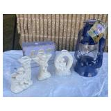 Joy candle holder set & patio lantern
