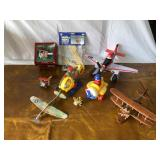 Lot of wooden airplanes & talking Disney airplane