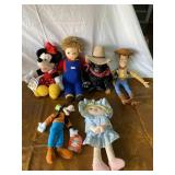 Assortment of vintage Disney plush toys