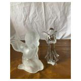 Clear angel & Angel candleholder