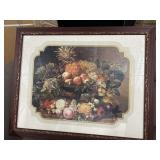 Vintage fruit bowl painting