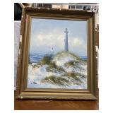 Lighthouse Orignial Painting by I. Kain