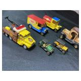Lots of antique toy trucks
