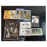 Playing cards & vintage tapes