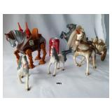 LOTS 4 VINTAGE COLLECTIBLE HORSES