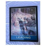 Vintage Leading war painting