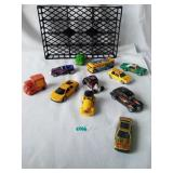 11 vintage cars in tray
