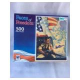2003 Faces Of Freedom 500 Piece Milton Bradley