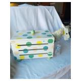 LARGE WOODEN Horse Toy Box AND CHAIR