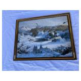 Vintage winter war print