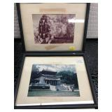 Lot of two vintage photographs of ancient temples