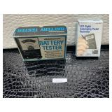 Micronta battery tester, LCD digital auto r