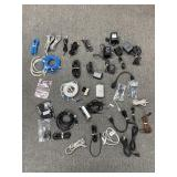 Lot of chargers/ cables , charging outlets