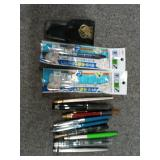 Lot of Pens and Grooming Kit