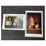 Lot of Two Still Life Prints