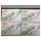 Lot of Four British Virgin Island Maps