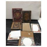 Five Leather Notebook Binders and Note Cards