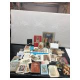 Religious Books and Pamphlets and a Crucifix