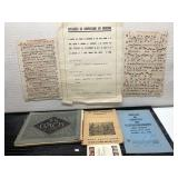 Lot of Sheet Music and Medical Documents