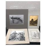 Lot of Four Prints including Colt 36 and H