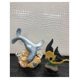 Ceramic Sea Lion Figurine and Black and Yellow