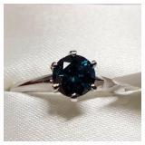14K  Blue Diamond(0.9ct) Ring